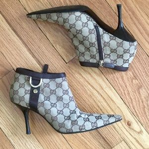 Gucci Canvas GG D-Ring Bootie